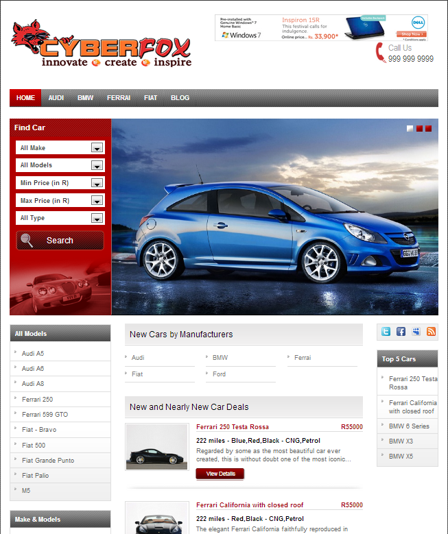 automobile website
